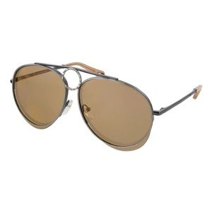 NWT Chloé Aviator Sunglasses in Brown Nickel BNIB